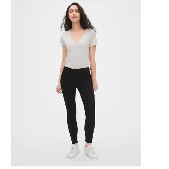 GAP Denim - NWT Gap Sculpt Mid Rise Skinny Jeans 8S Black c83